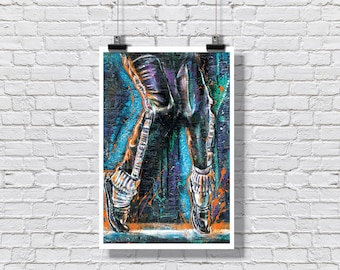 "Art Print Poster 12"" x 18"" - Michael Jackson - King of Pop Dancing Music Pop Music Legend Jackson 5"