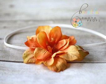 Yellow Orange Vintage Inspired Flower Headband