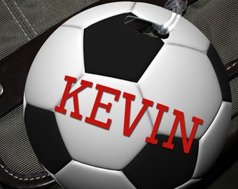 Bag Tag, Soccer Ball Design - FREE Shipping in US