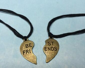Friendship BFF Bracelets~2 Make a Wish Bracelets-Best Friend Split Heart Bracelets-BFF jewelry-Best Friend Heart Bracelets-Heart Bracelets