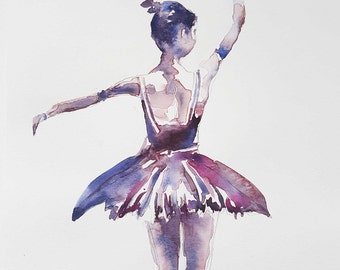 Ballerina dancer | Original watercolour | Watercolor painting | A4