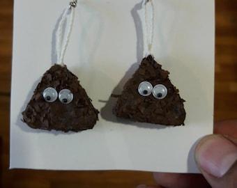 Poop Emoji Earrings
