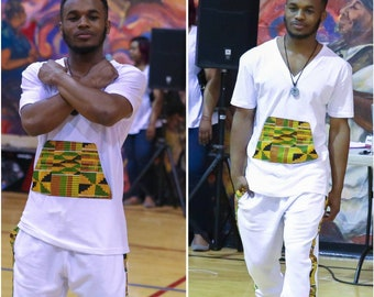 LOVED Collection  Classic Kente Jogger & Tee set