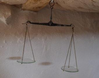 Old balance of jeweler
