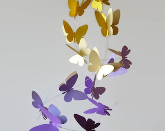 Flying butterflies mobile, Hanging mobile, Home decor