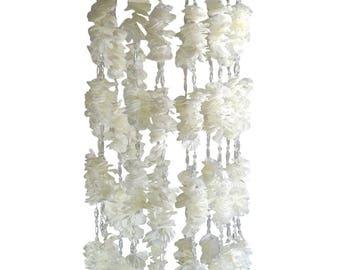 Flower chandelier etsy floral chandelier flower mobile plumeria white flower chandelier wedding decorations reception decor crystals aloadofball Image collections