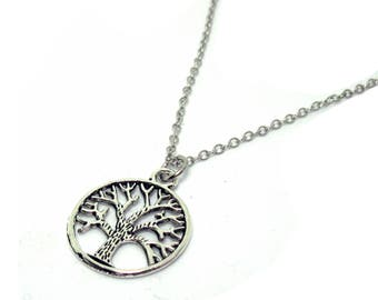 Mens silver necklace etsy mens tree of life necklace mens necklace mens silver necklace guys necklace treeoflife family tree necklace aloadofball Images