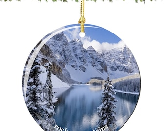 Rocky Mountains Christmas Ornament in Porcelain