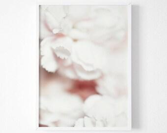 Carnation Print, Blush Pink Blooms Print, Large Floral Wall Art, blush flower print, Instant Print, Floral Wall Poster Print,Pink Wall Decor