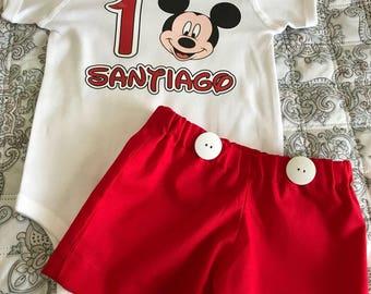 Mickey Mouse Shorts Set