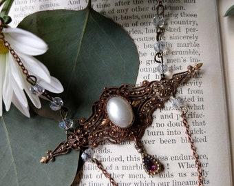 Repurposed Antique Brooch Necklace