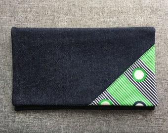 Fold Over Clutch, purse, handbag, vintage fabric
