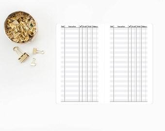 Checkbook Register Traveler's Notebook Insert – A6 size - financial - money tracker - finances