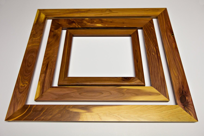 Large reclaimed red cedar photo frames art frames picture zoom jeuxipadfo Choice Image