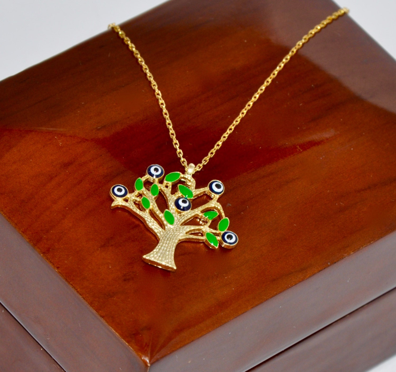 necklace fullxfull products life fvva rose tree chain il long family of pendant gold