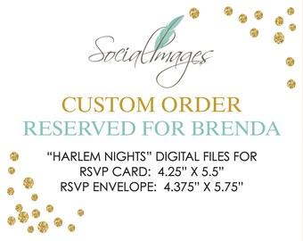 RESERVED for BRENDA Harlem Nights Digital file for RSVP card and envelope