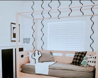 Boys Room Decor. Nursery Decals. Moon Decals. Halloween Wall Decals. Nursery decor. Wall sticker. Home decor decals. Bedroom Decals.