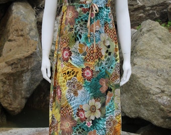 Peasant Dress Handmade Festival Dress Festival Clothes Hippie Clothes Festival Clothing Hippie Clothing Cotton Fabric Blue Teal
