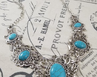 Southwest Necklace with Turquoise Accents!
