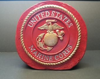 USMC Stand Alone Decorative Stone