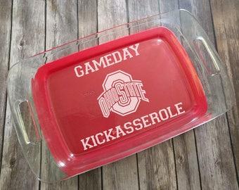 Ohio State Gameday Kickasserole Engraved Pyrex Baking Dish