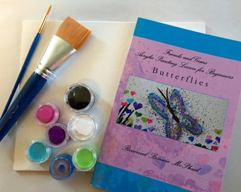 DIY Canvas Painting Kit for All Ages - Butterflies