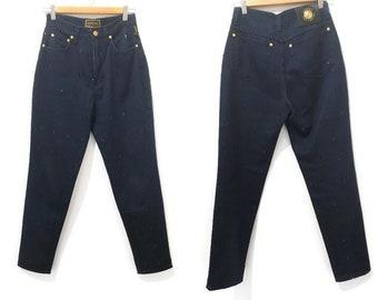 VERSACE jeans cut out, Gianni Versace cut out jeans, jeans cut outs, women jeans Versace, Original Versace 90s, denim vintage Versace