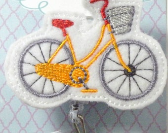 Bicycle Felt Badge Reel   Nurse Badge Reel   Planner Clip   Nurse Gift   Retractable   ID Badge   Badge Clip   Cute Badge Reel   Feltie