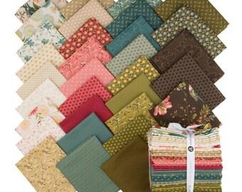 Andover Edyta Sitar Laundry Basket Quilts LBQ Sequoia Pink Green Cream 32 Fat Quarter Bundle Fabric