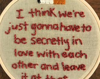 The Royal Tenenbaums Embroidery Hoop Art