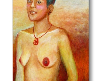 Metal Print Artemis Virgin Goddess of the Hunt Independent Woman and Free Spirit Ready to Hang Contemporary Art Nude by Deenie Wallace