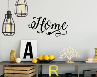 Home Wall Decal - Home Wall Sticker - Entryway Wall Decal - Home Decal - Home Wall Art - Gallery Wall Decor - Living Room - Kitchen Decal