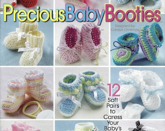 Precious Baby Booties Crochet Pattern Book