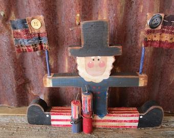 Uncle Sam, Primitive Folk Art