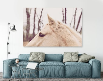 "large canvas wall art, large wall art, large colorful wall art, large wall art canvas, large art on canvas, horse photography, art - ""Alert"""