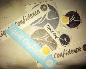 Liquid Confidence Vinyl Sticker Pack 15+