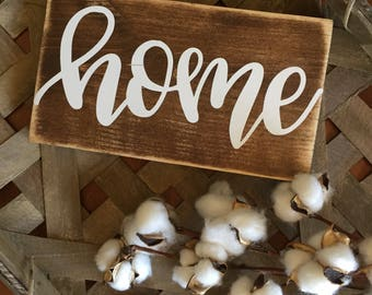 Home sign, home decor, home sweet home, wood home sign, wood signs, farmhouse sign, farmhouse gallery wall, lets stay home, welcome sign