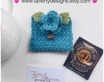 Bonneterie thé voyage sac / sac à main de thé / thé sac porte - en Pure coton biologique
