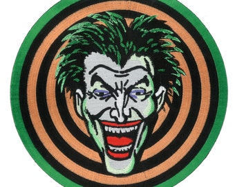 "6"" Movie Replica Joker Gang iron-on Front Jacket Patch 1989 Batman Movie Dc Comic Marvel Halloween Costume Cosplay Goon Thug Memorabilia"