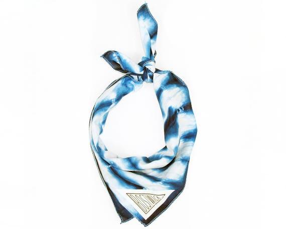 Indigo Blue Shibori Hand Dyed Bandana