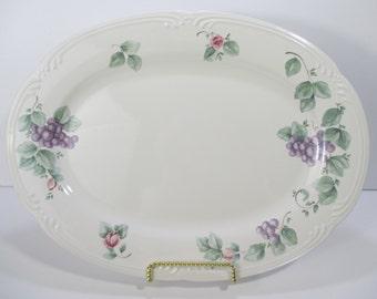 "Pfaltzgraff Grapevine Serving Platter Large 14 3/8"" Cira 1990"