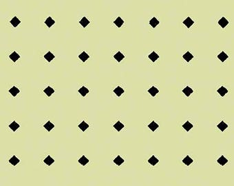 Diamond Dot Fabric, Hatters Tea Party - by Janet Wecker Frisch - Quilting Treasures 26156 Lt Green  - Priced by the Half Yard