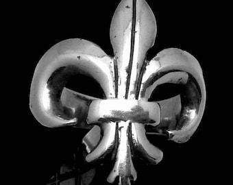 Vintage Sterling Silver Fleur de Lis Ring 23356