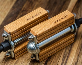 Jewlery for your Bike, Oak Wooden Bike Pedals