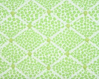 Green Cheetah Animal Print French Memo Board
