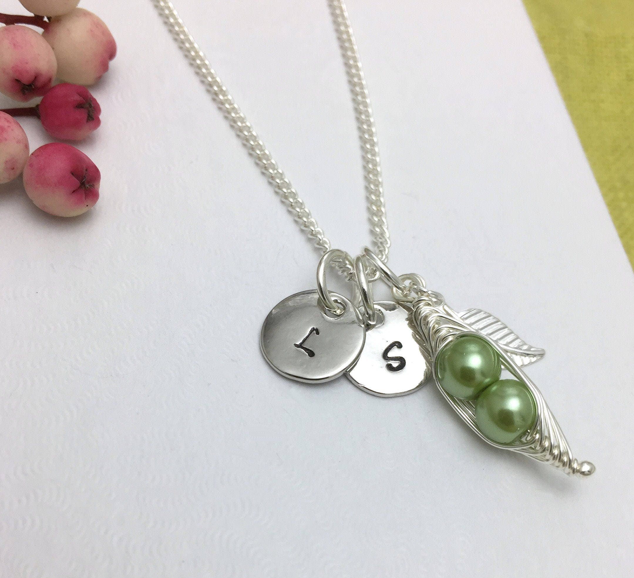 peas pod made s in personalized a pea designmejewelry buy two mother necklace custom by mothers