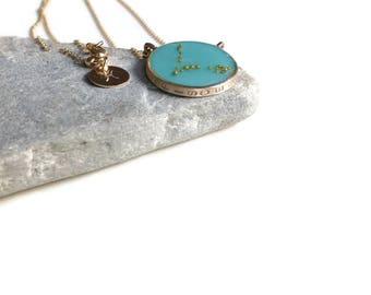 Pisces Constellation Necklace | Pisces Zodiac Necklace Gold | Pisces Necklace | Astrology Necklace | Celestial Necklaces | Pisces Gifts