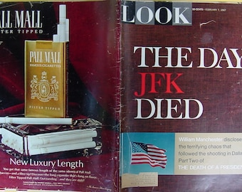 vintage President Kennedy JFK 1967 Look Magazine Assassination William Manchester American history 20th century