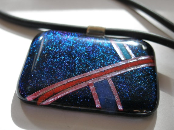 SALE! Radiance fused glass pendant was 55.00!