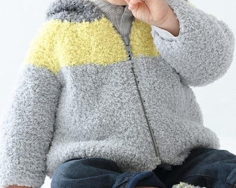Vest hooded baby and children from 3 months to 4t 100% handmade